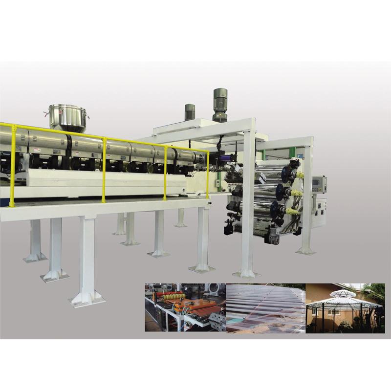PC Corrugated sheet production line