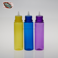 60ml yello blue and purple e liquid bottle