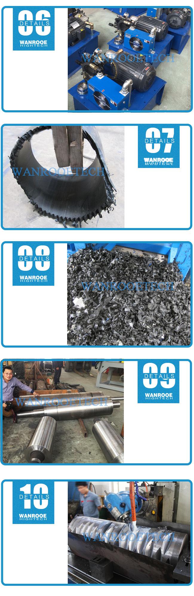 Large Diameter PVC, HDPE, Corrugated Pipe Horizontal Shredder Machine-detail-6