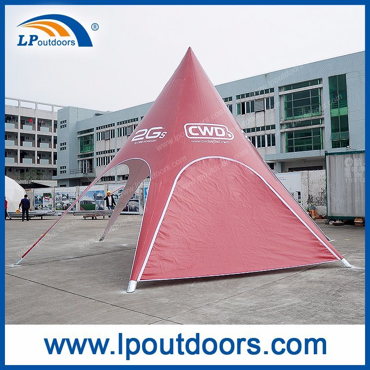Dia8m Small Outdoor Aluminum Customs Printing Canopy Star Shaped Star Tent for Sale