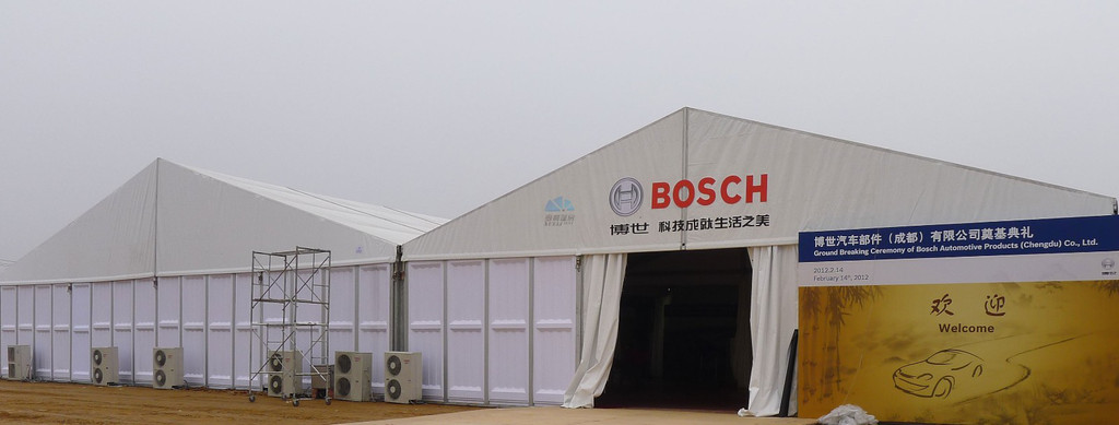 Bosch display tent