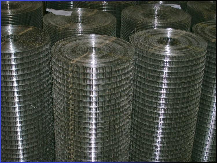 8 gauge galvanized welded wire mesh panel 25mm square mesh