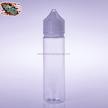 60ml Clear Plastic Bottle Clear Cap Tip Removable Dropper Bottle