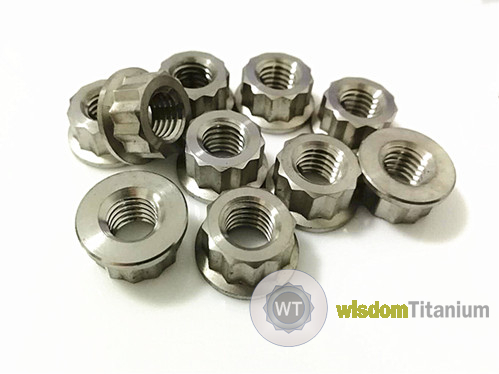 Titanium Exhaust Manifold Nuts 12 Point Flange Nuts