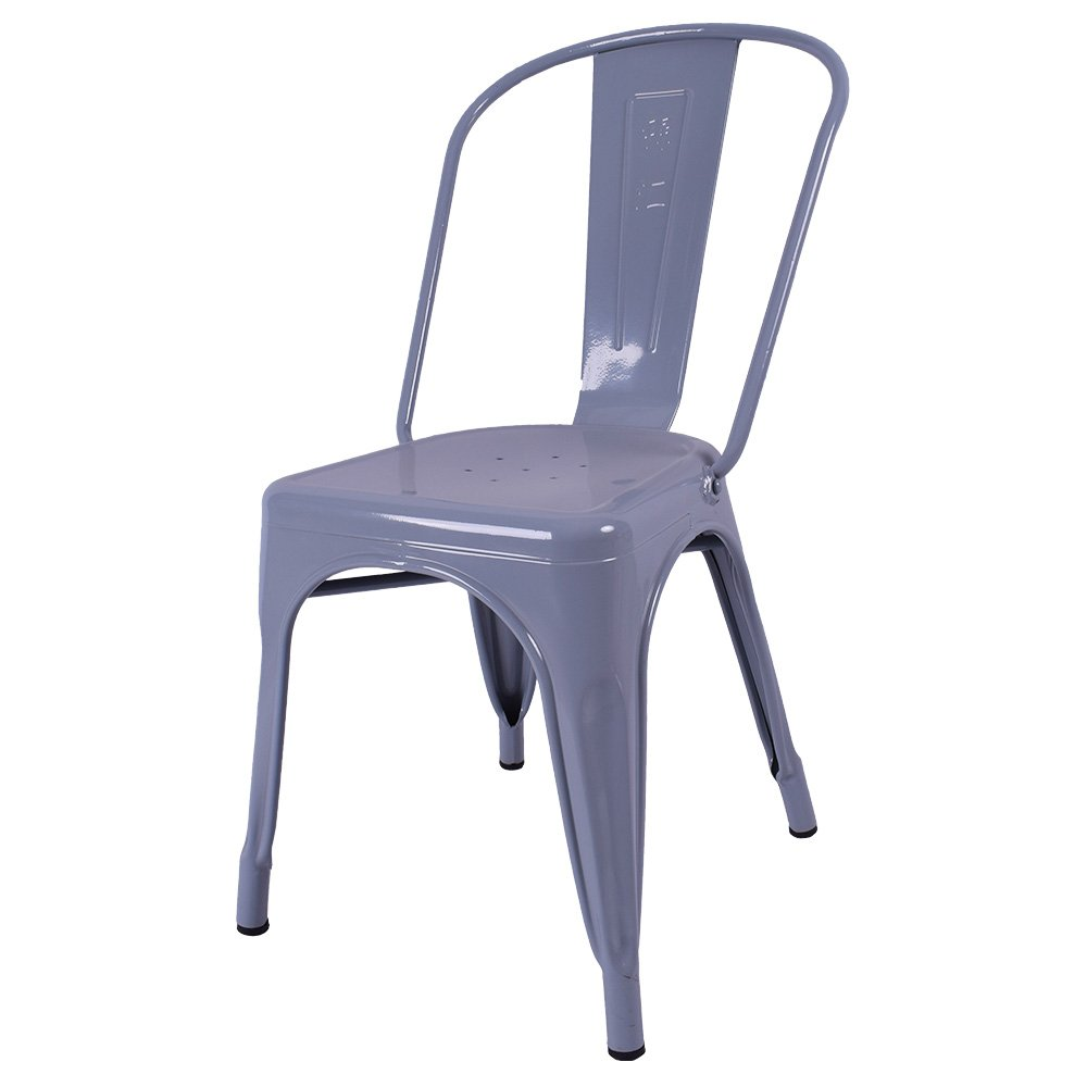 Classical Dining Chairs Outdoor Chairs Metal Cafe Chairs Iron Metal Vintage  Metal Chair 710201 Grey
