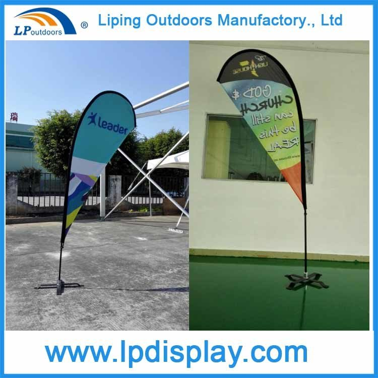 Outdoors Teardrop Flags and Banners for Promotion Beach