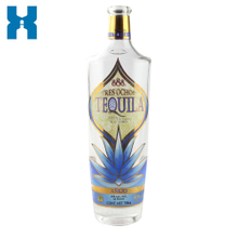 Customized 750ml Tequila Glass Bottle