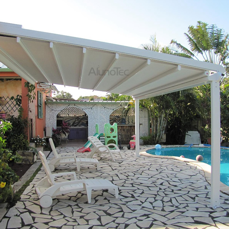 Outdoor Aluminium Retractable Roof Shading System