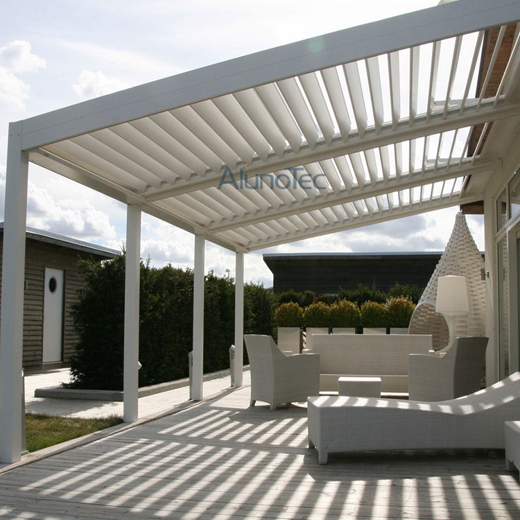Motorised Aluminum Swimming Pool Pergolas Patio Covers