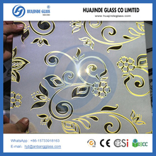 titanium flower glass, shahe hot sale high quality good price glass