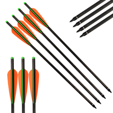 Wholesale archery arrows for crossbow 4'' TPU Vanes 100Grains 2219 insert Hybrid Carbon Bolts