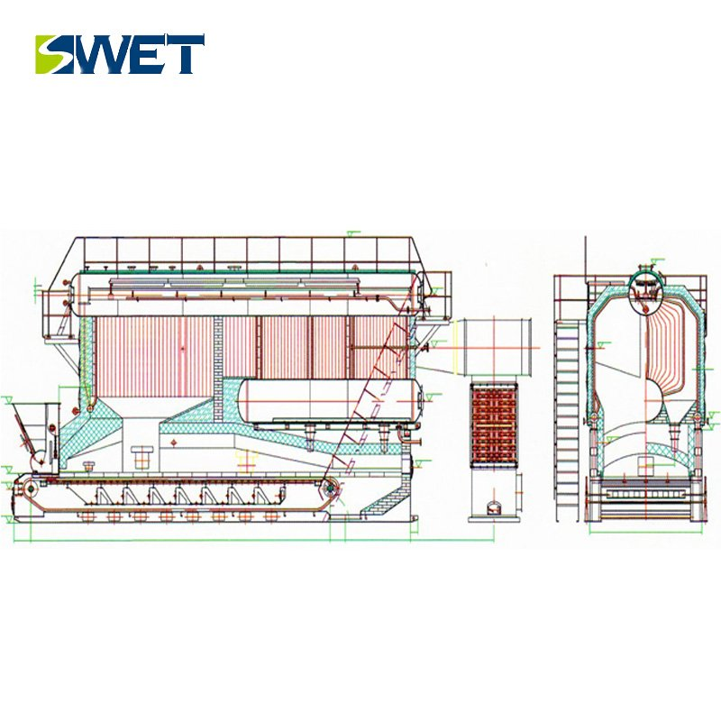 Industrial 75t/h Biomass / Coal DHL Steam boiler
