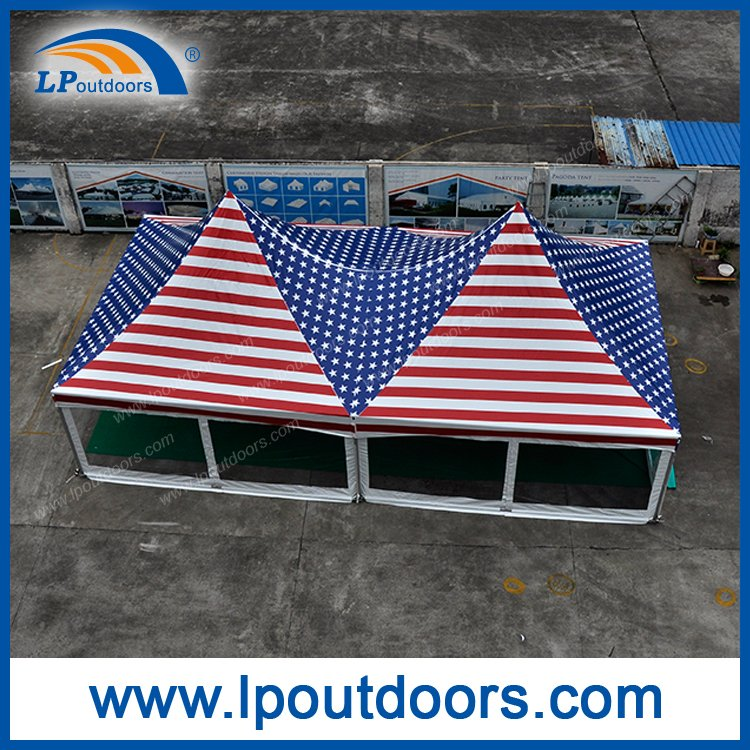 6X12m double top frame tent american flag print-full006