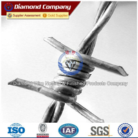 1.6mm high tensile galvanized barbed wire