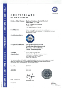 HB Dental EC Certificate