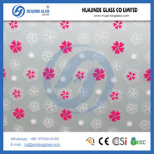 2-19mm colorful tempered silk printed glass
