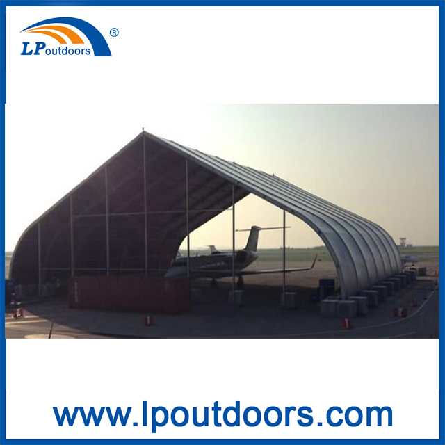 Huge Durable Strong Aircraft Hangar Curved Marquee Tent For Sale