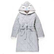 Children's pure cotton cap thickening bathrobe