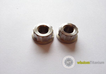M7 12 Point Flange Nut titanium