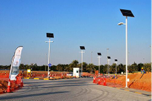 RJ 8m,9m lamp post Highway garden 60W pv solar street light
