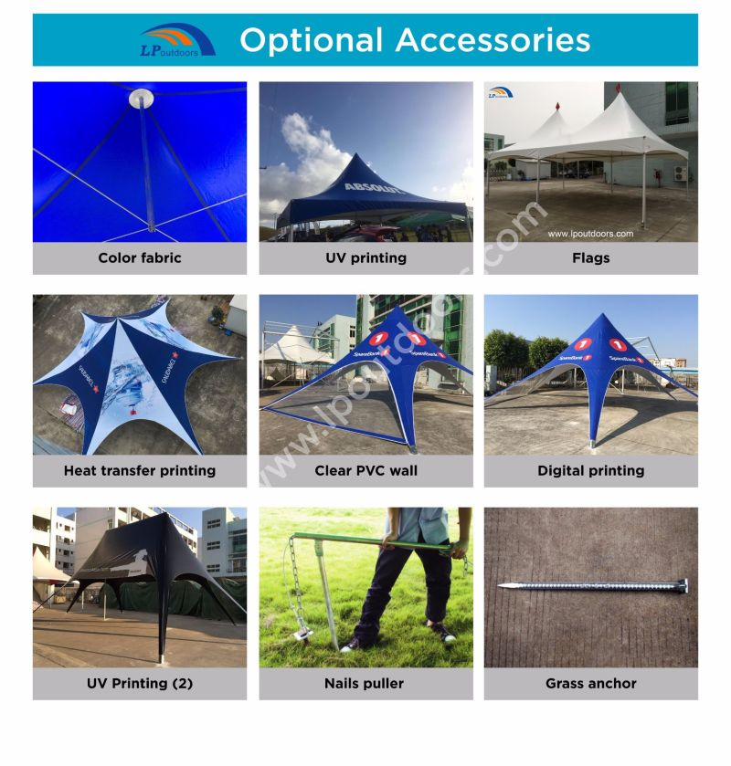 10m Outdoor Star Shade Star Tent for Event