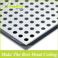 Good Prices Soundproof and Fireproof Decorative Aluminum Ceiling Tile With SGS