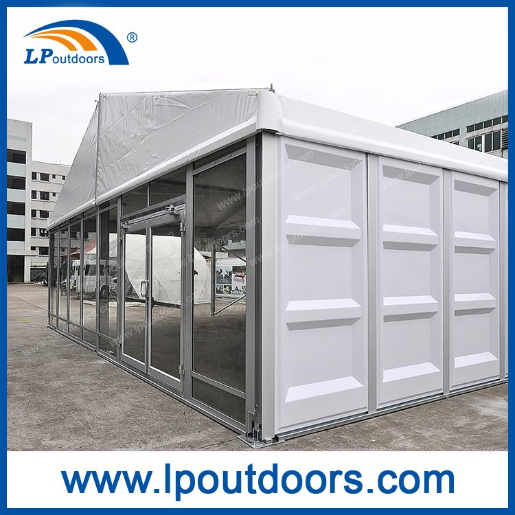 10m Outdoor Clear Span Event Marquee Storage Tent with ABS and Glass Wall