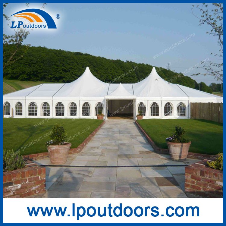Outdoor Luxury Aluminum Frame High Peak Marquee Wedding Party Tent for Events