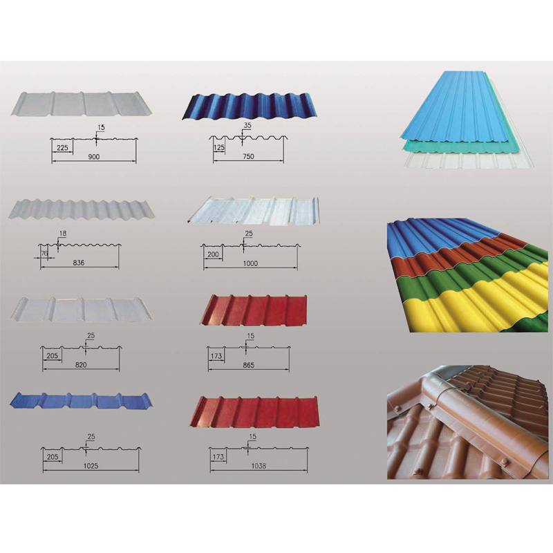 pvc corrugated roof sheet extrusion line