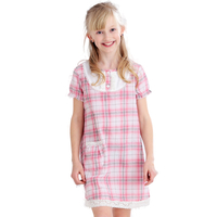 Girls' cotton short sleeved nightdress
