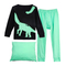 """Dinosaur"" Boys Pajamas 100% Cotton Kids Clothes Toddler Pjs Sleepwear Pants Set"