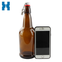 Swing Top Amber 500ml Glass Beer Bottle