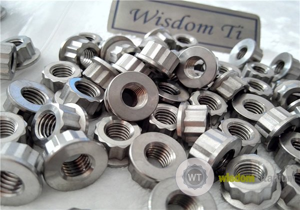 hot forged titanium 12 point flange nut J5.2