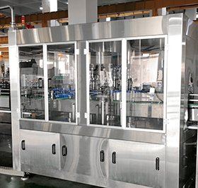 Rotary type cover capping machine