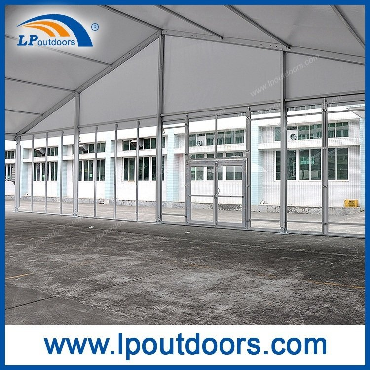 20m Clear Span Outdoor Large Luxury Aluminum Event Tent with Glass Wall