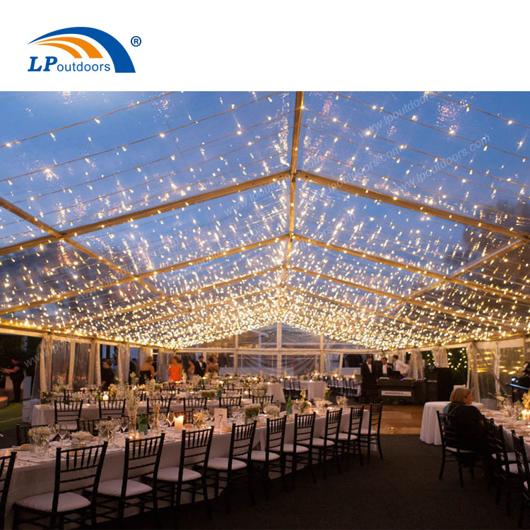 Luxury clear roof wedding marquee for event