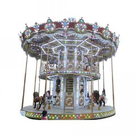 DJCR07 24seats double deck carousel