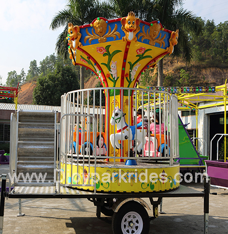DJMR08 6seats carousel with trailer