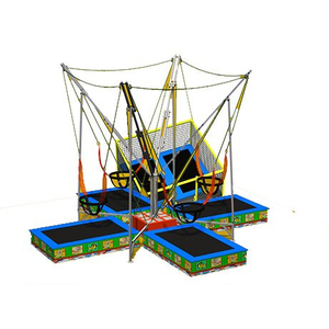 DJBTR39 4 Persons Square Trampoline Bungee