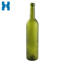 Frost Dark Green Glass Wine Bottle 750ml