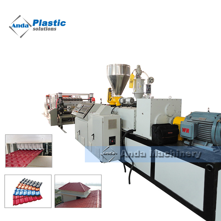 80 156 Pvc Plastic Roof Tile Making Machine From China