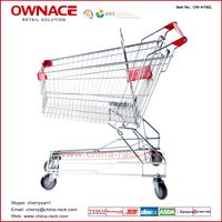 OW-AY-Series Asian Style Trolley Supermarket Shopping Trolley/Cart with Different Capacity