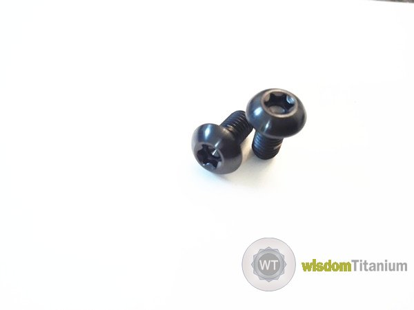 Black Titanium Disc Rotor Bolts Bicycle Use