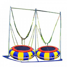 DJBTR27 Inflatable Double Seat Bungee Trampoline