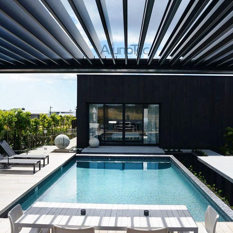 Motorized Pergola Opening Roof Shading Cover   Buy Pergola Design,  Motorized Pergola, Louvre Roof System Product On AlunoTec