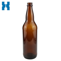 GREEN GLASS BEER BOTTLE 500ML WITH CROWN TOP