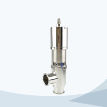 Sanitary hygienic line type pressure relief valve