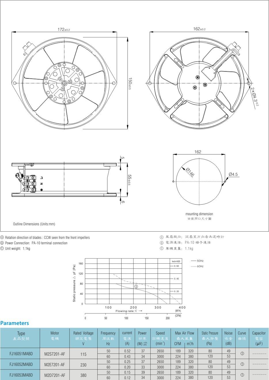 aluminum fan blade cast