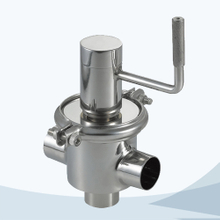 Sanitary food grade manual 3 way cut-off valve