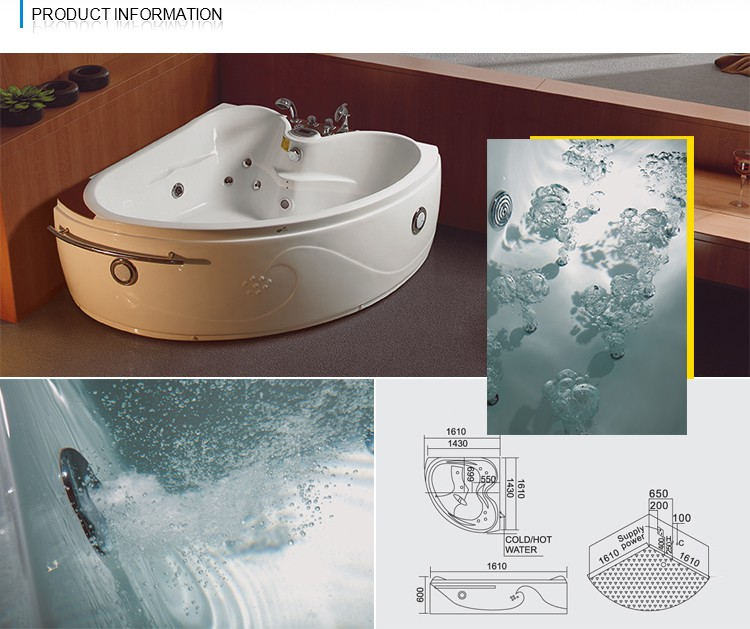 NTH Canton Fair Best Selling Product Customized Suite 2 Person 1800 Bathtub